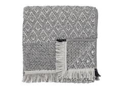 Handtuch - Baumwolle - schwarz/weiß