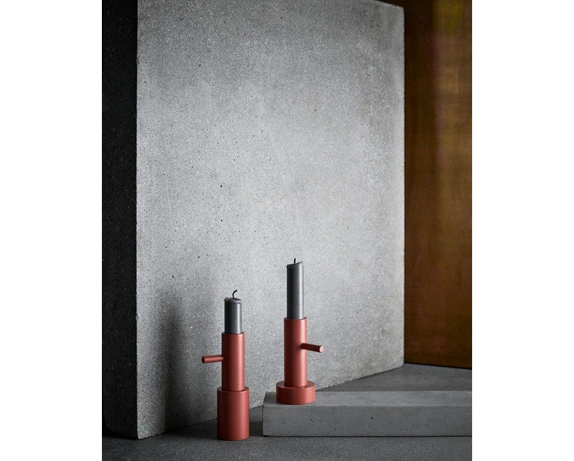 Fritz Hansen - Candlestick Kerzenständer - S - Terracotta - 2