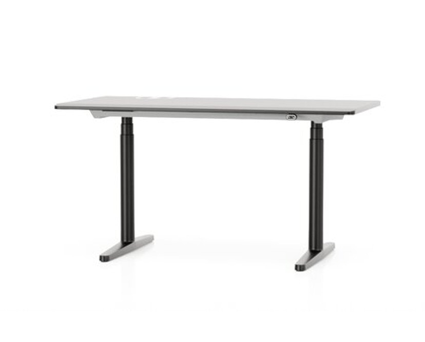 Tyde Steh-Sitz-Tisch - MDF pulverbeschichtet basic dark