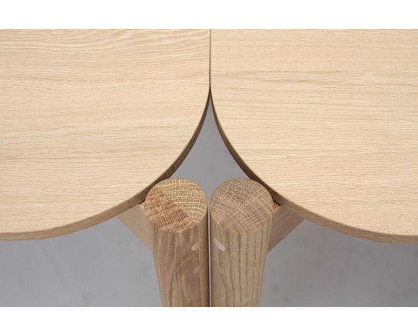 Karimoku New Standard - Castor Tisch quadratisch - Eiche - 8
