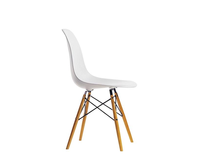 Vitra - DSW Eames Plastic Sidechair - blanc - érable jaune - patin pour sols durs - 1