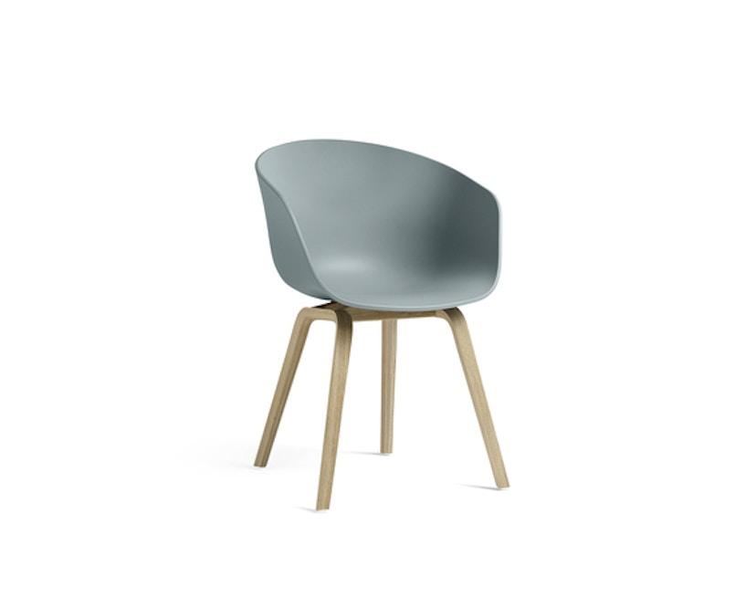 HAY - About a Chair AAC 22 - graublau - Gestell Eiche matt lackiert - 1