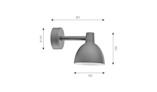 Louis Poulsen - Toldbod 155 Außenleuchte - alufarben strukturiert - 2