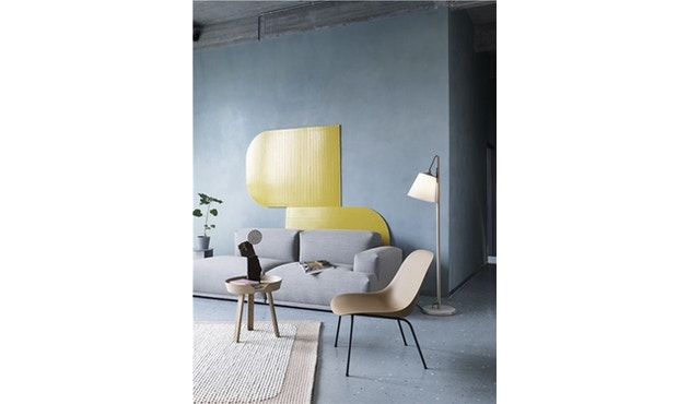 Muuto - Fiber Lounge Stuhl - Rohrgestell Shell Base - schwarz - 4