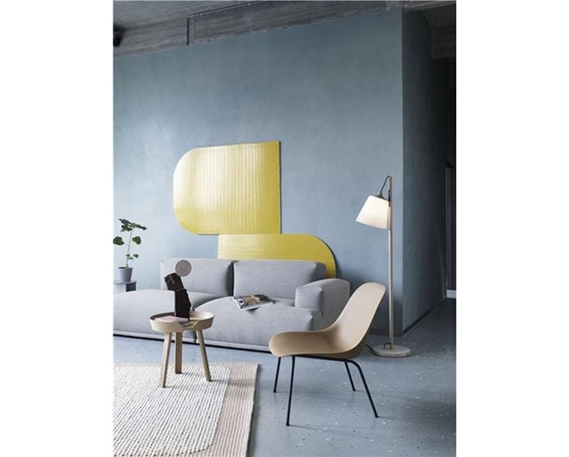 Muuto - Chaise Fiber Lounge - Structure en bois - Noir - Structure noire - 4