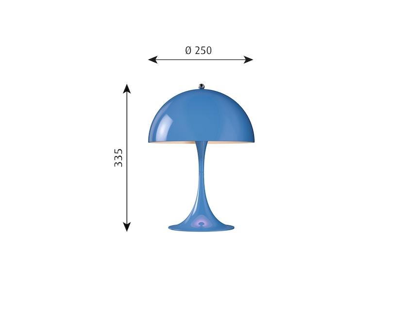 Louis Poulsen - Panthella Mini Tischleuchte Version 2 - blau - 4