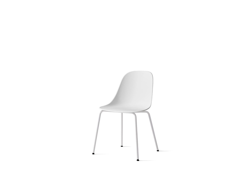Menu - Harbour Dining Side Chair ohne Polster, Light Grey Steel - light grey - 1
