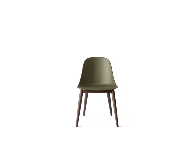 Menu - Harbour Dining Side Chair ohne Polster, Dark Stained Oak - olive - 1