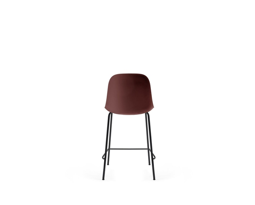 Menu - Harbour Counter Chair ohne Polster, Gestell Black Steel - Burned red - 3