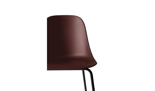 Menu - Harbour Counter Chair ohne Polster, Gestell Black Steel - Burned red - 4