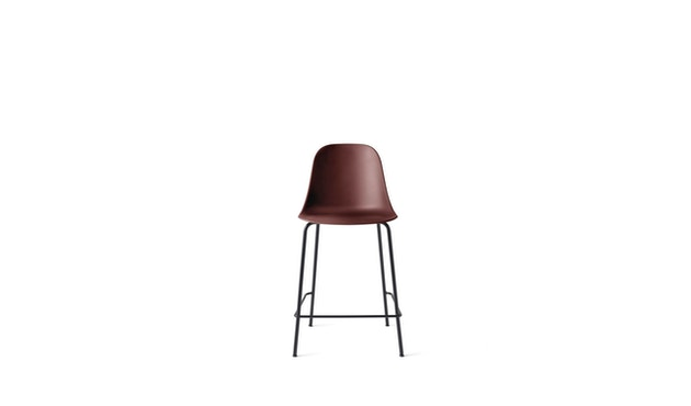 Menu - Harbour Counter Chair ohne Polster, Gestell Black Steel - Burned red - 1