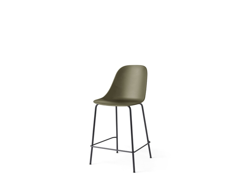Menu - Harbour Counter Side Chair ohne Polster, Gestell schwarz - Olive - 2