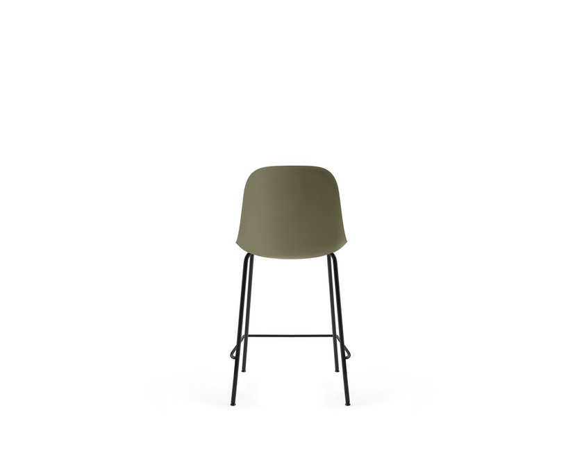 Menu - Harbour Counter Side Chair ohne Polster, Gestell schwarz - Olive - 3