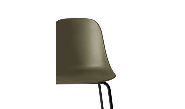 Menu - Harbour Counter Side Chair ohne Polster, Gestell schwarz - Olive - 4