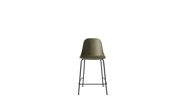 Menu - Harbour Counter Side Chair ohne Polster, Gestell schwarz - Olive - 1