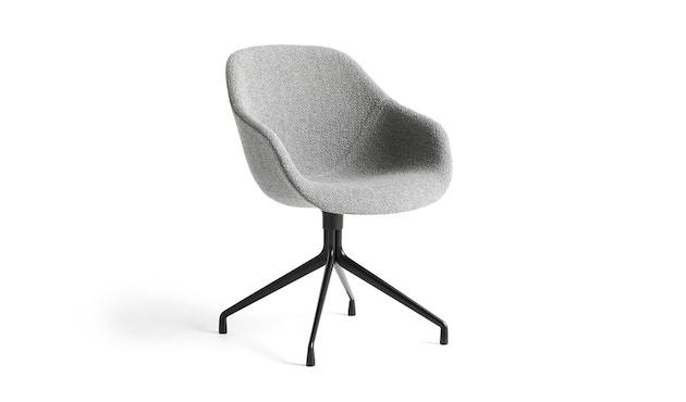 HAY - About A Chair AAC 121 - Bezug: Kvadrat Remix 113  Gestell: schwarz pulverbeschichtet - gepolstert - 1