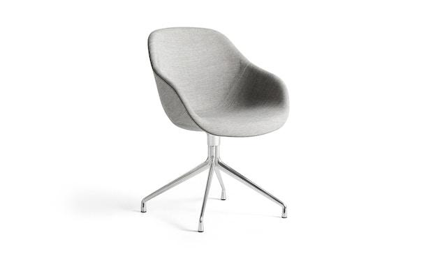 HAY - About A Chair AAC 121 - Bezug: Kvadrat Remix 163  Gestell: Aluminium - gepolstert - 1