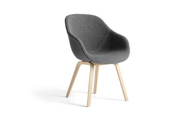 HAY - About A Chair AAC 123 - Bezug: Kvadrat Remix 113  Gestell: Eiche schwarz lackiert - gepolstert - 1