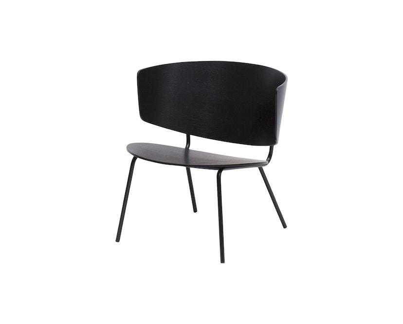 ferm LIVING - Herman Lounge Stuhl - schwarz/schwarz - 2