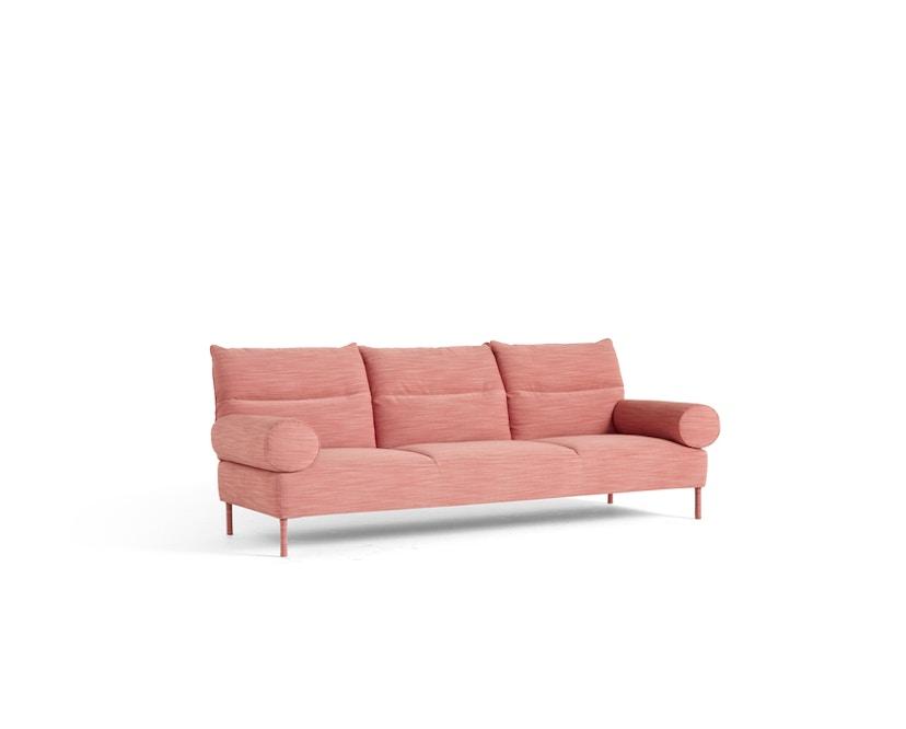 Pandarine 3 Sitzer runde Armlehnen - Raas 562 - Eiche maroon red