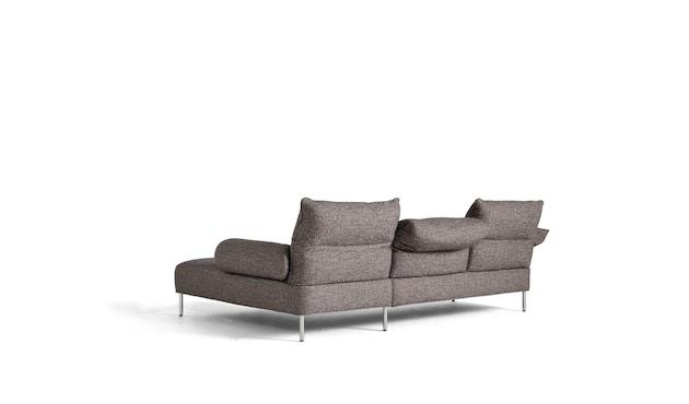 Pandarine 3 Sitzer mit Chaiselounge flache Armlehnen - Swarm Multi Colour - chromed steel