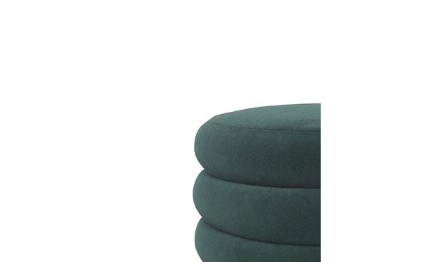 ferm LIVING - Pouf Rund - klein - dunkelgrün - 2