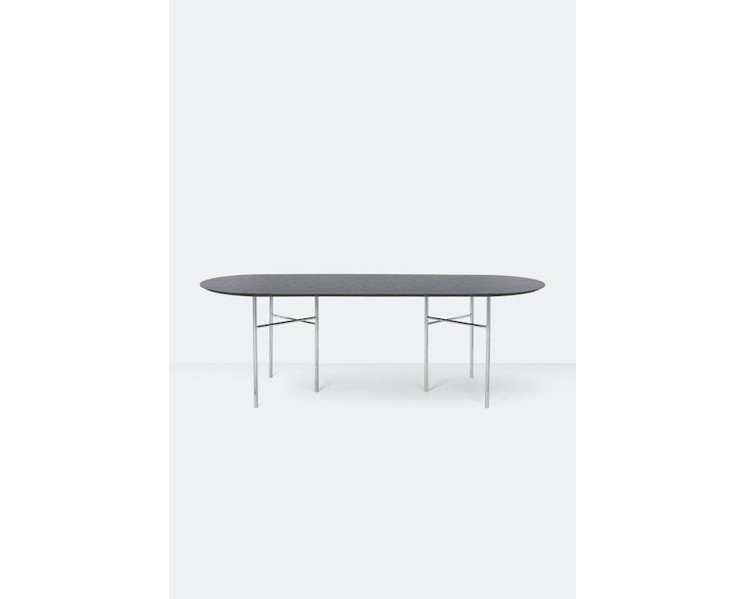 ferm LIVING - Mingle Tischplatte oval - schwarz furniert - 220 cm - 2