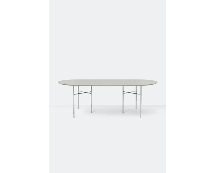 ferm LIVING - Plateau de table Mingle- Oval - 220 cm - gris clair - 2