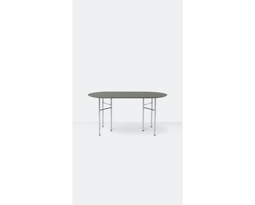ferm LIVING - Mingle Tischplatte oval - tarkett - 150 cm - 2