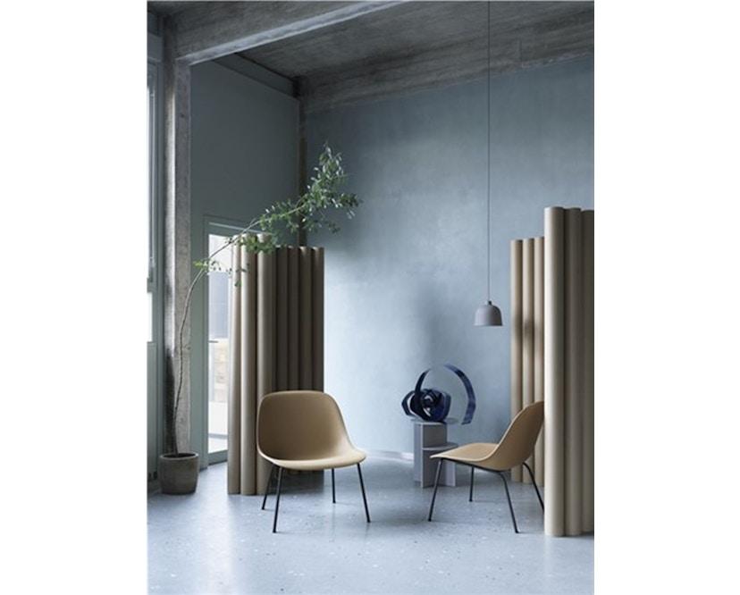 Muuto - Chaise Fiber Lounge - Structure en bois - Noir - Structure noire - 3