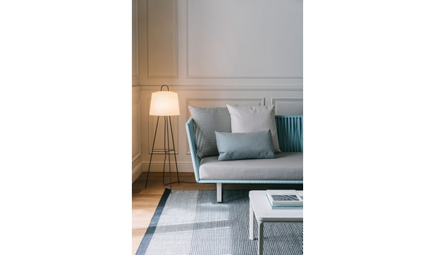 Kettal - Bitta 2-Sitzer Sofa - mangangrau - Bezug beige (wasserfest) - Bespannung rotbraun/braun - 2