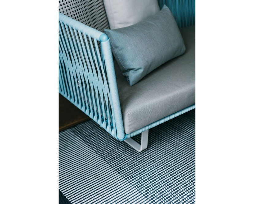 Kettal - Bitta 2-Sitzer Sofa - mangangrau - Bezug beige (wasserfest) - Bespannung rotbraun/braun - 3