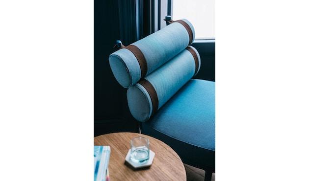 Kettal - Roll Club Sessel - kamillenweiß - Bezug arktikblau - Kontraststreifen braun - 6
