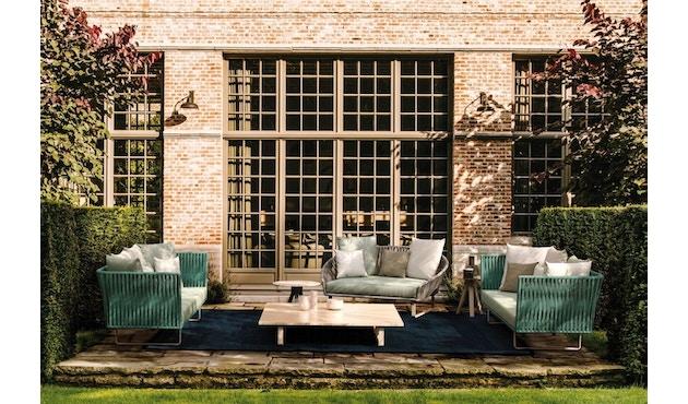 Kettal - Bitta 2-Sitzer Sofa - mangangrau - Bezug beige (wasserfest) - Bespannung rotbraun/braun - 4