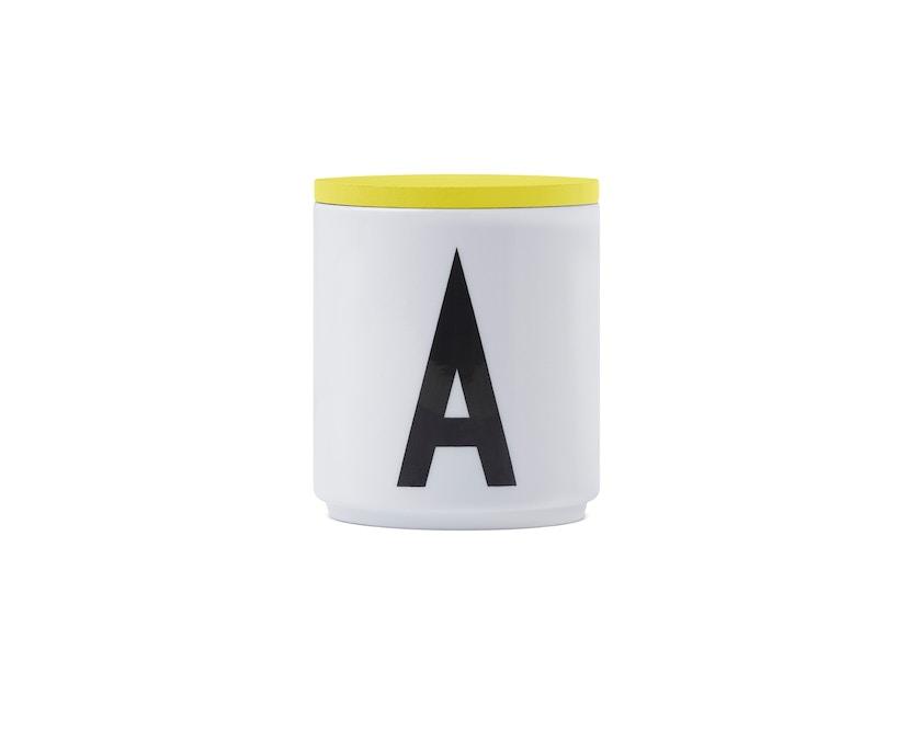 DESIGN LETTERS - Holzdeckel für Personal Porzellanbecher - gelb - 1