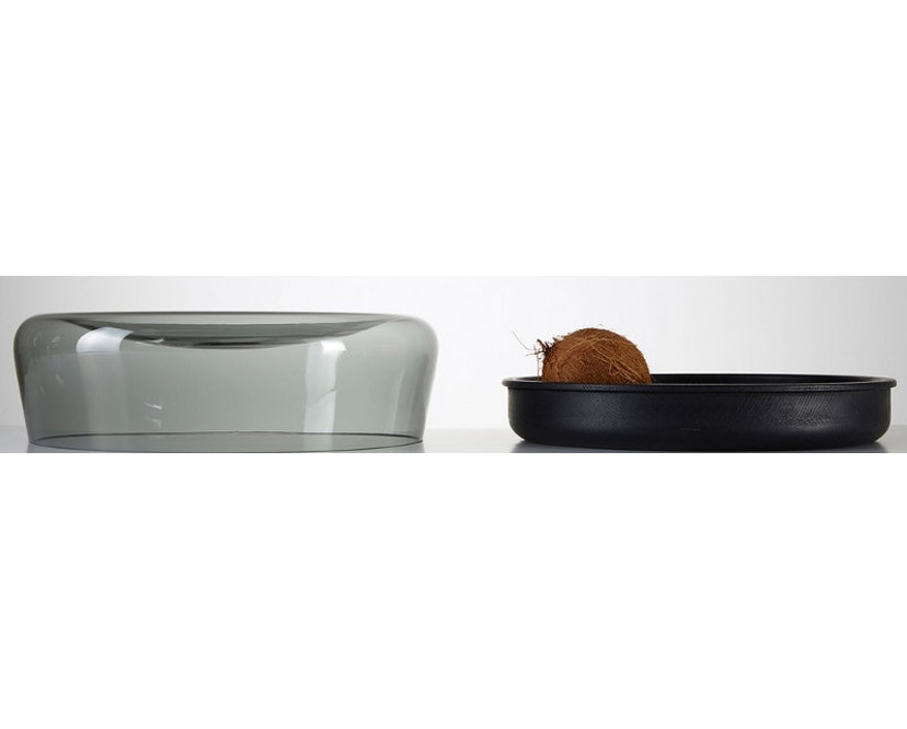 PER/USE - Double Bowl S -Eiche natur, Glas klar - 2