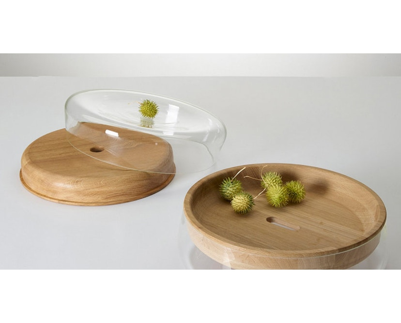 PER/USE - Double Bowl S -Eiche natur, Glas klar - 1