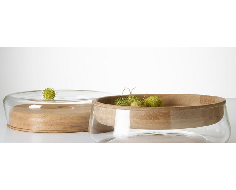 PER/USE - Double Bowl S -Eiche natur, Glas klar - 3
