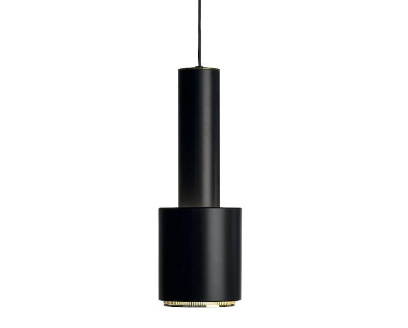 Artek - A110 Hängeleuchte Hand Grenade - Leuchtenschirm schwarz, Messingring, Kabel schwarz - 1