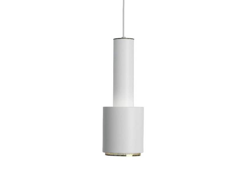 Artek - A110 Hängeleuchte Hand Grenade - Leuchtenschirm weiß, Messingring, Kabel weiß - 1
