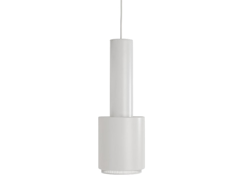 Artek - A110 Hängeleuchte Hand Grenade - Leuchtenschirm weiß, weiß lackierter Messingring, Kabel weiß - 1