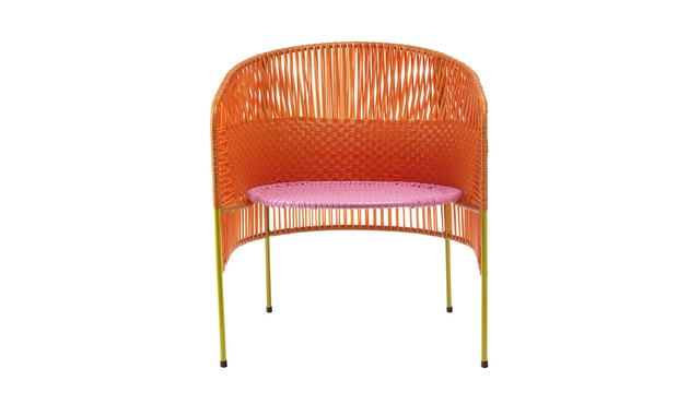 Ames - CARIBE  Loungesessel - orange/ rosa/ curry - 1