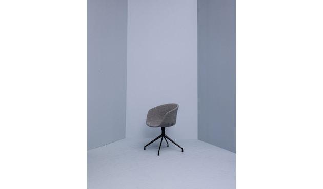 HAY - About a Chair AAC 21 - bezogene Sitzschale - Remix133 - Aluminium poliert - 4