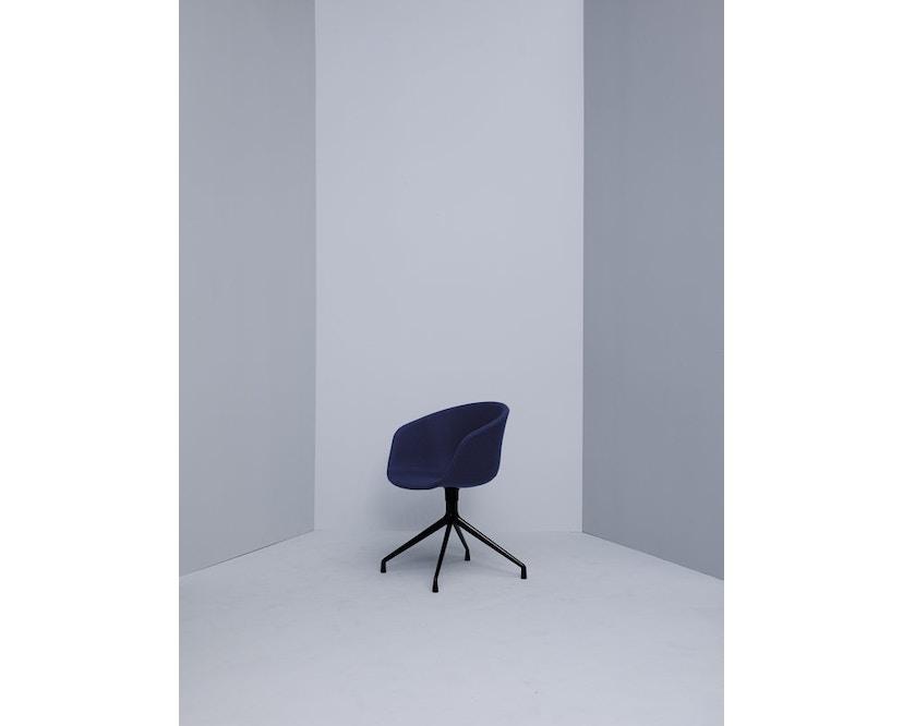 HAY - About a Chair AAC 21 - bezogene Sitzschale - Remix133 - Aluminium poliert - 5