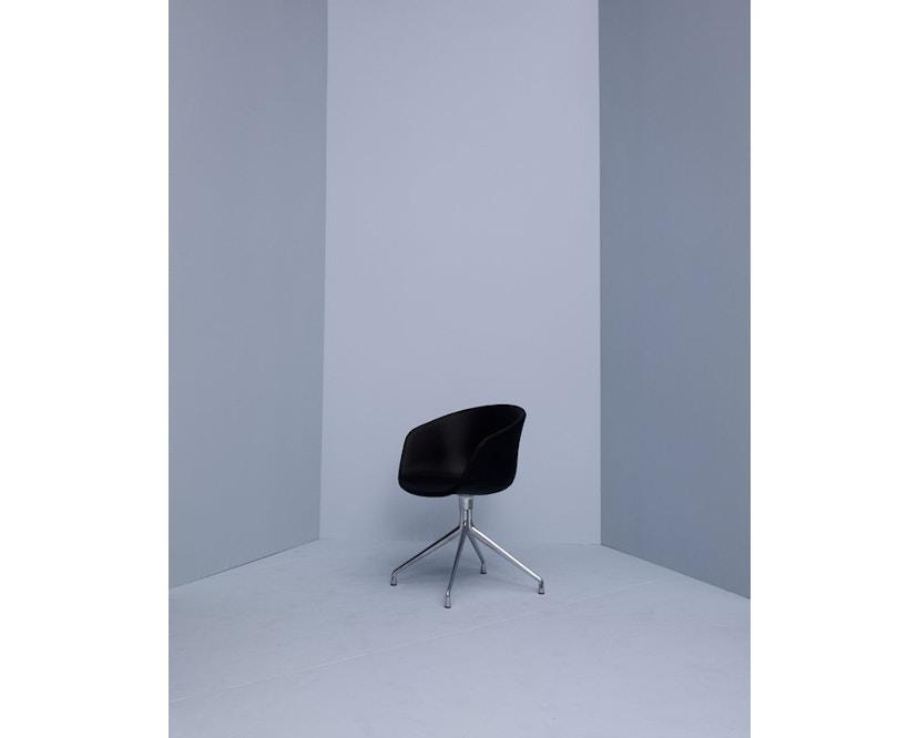 HAY - About a Chair AAC 21 - bezogene Sitzschale - Remix133 - Aluminium poliert - 6