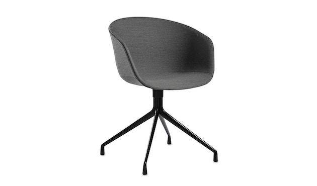 HAY - About a Chair AAC 21 - bezogene Sitzschale - Remix133 - Aluminium poliert - 1
