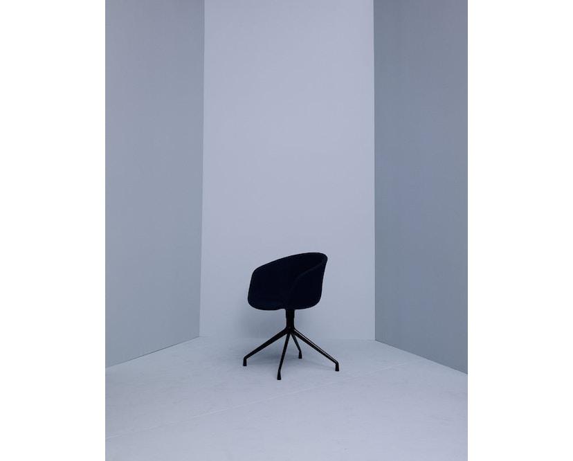 HAY - About a Chair AAC 21 - bezogene Sitzschale - Remix133 - Aluminium poliert - 3