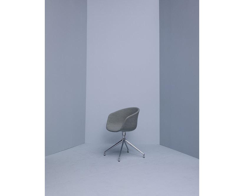 HAY - About a Chair AAC 21 - bezogene Sitzschale - Remix133 - Aluminium poliert - 2
