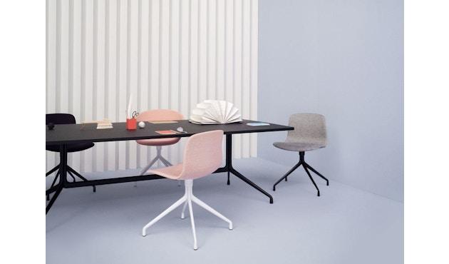 HAY - About a Chair AAC 21 - bezogene Sitzschale - Remix133 - Aluminium poliert - 9