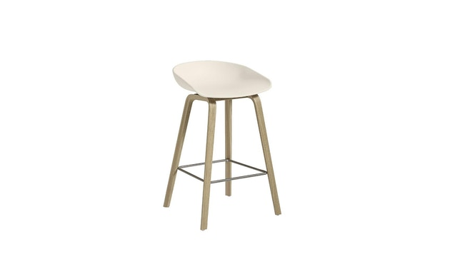 HAY - About a Stool AAS 32 - cream white - Eiche matt lackiert- H 75 cm - 5